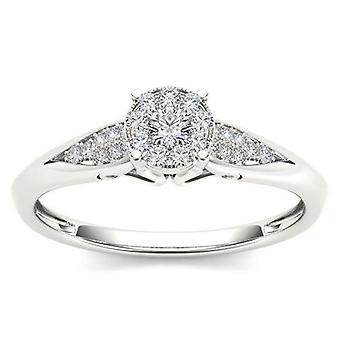Igi certifierad 14k vitt guld 1,25 ct diamant klassisk patiens förlovningsring