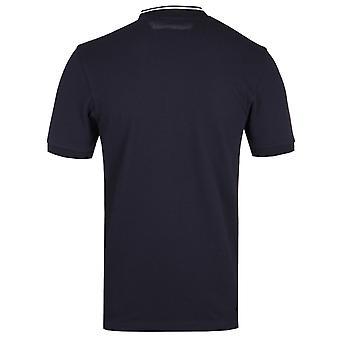 Fred Perry Bomber Collar Navy pique shirt