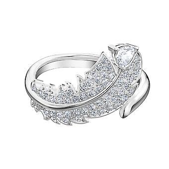 Swarovski Ring 5515017-M tal Rhodi silver mönster Crystal Feather kvinnor