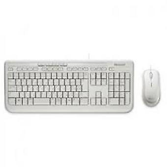 Microsoft Wired Desktop Keyboard & Mouse Bundle - Branco