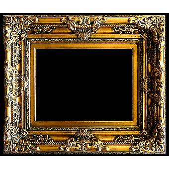 Wooden frame in gold, inner dimensions 50x60 cm