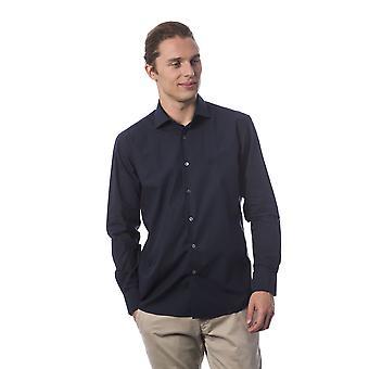 Men's Blue Roberto Cavalli Long Sleeve Shirts