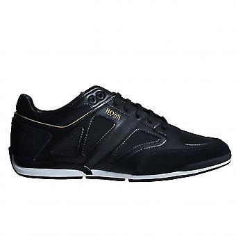 Hugo Boss Footwear Hugo Boss Men's Black Saturn Lowp Strf2 Trainers