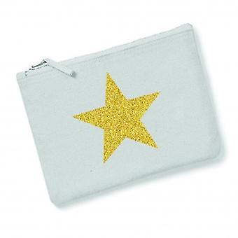 Grey With Gold Star Womens Beauty Bag | Gifts From Handpicked