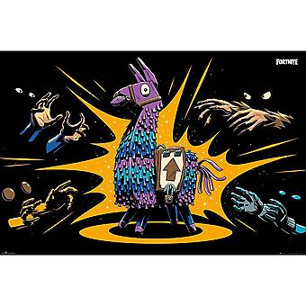 Fortnite Loot Llama Poster