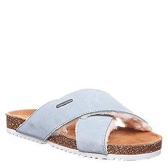 Bearpaw Britton Women's Slide Comfort Sandal Powder Blue - 8 Medium