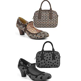 Ruby Shoo Femmes-apos;s Lexi Mid Heel Court Chaussures Pompes et Sac Austin Matching