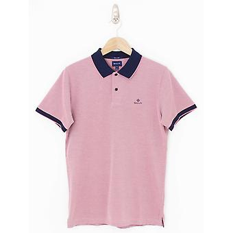 GANT Oxford Pique Rugger Polo - Rose