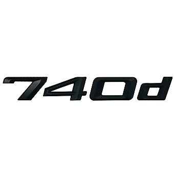 Matt Black BMW 740d Car Model Rear Boot Number Letter Sticker Decal Badge Emblem For 7 Series E38 E65 E66E67 E68 F01 F02 F03 F04 G11 G12
