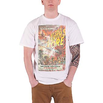 At The Earths Core Mens T Shirt White Vintage Movie Poster Official
