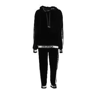 Dolce E Gabbana F9g40tg7vdmn0000 Women's Black Viscose Jumpsuit