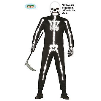 Traje de esqueleto con traje de máscara para los huesos de hombres Halloween Horror