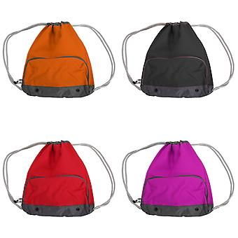 Bagbase Athleisure Water Resistant Drawstring Sports Gymsac Bag (Pack of 2)