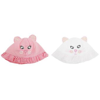 Baby Girls Cat Design Sun Hat With 3D Ears