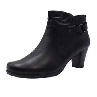 JAN 25347 Zebu Stylish Wide Fit Smart Boot In Black