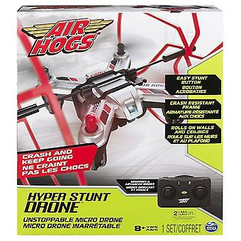 Air Hogs Hyper Stunt Drone Red interior RC Racing Crash Cadru rezistent