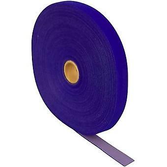FASTECH® T0602504261125 Haak-en-lus tape voor bundeling Haak en lus pad (L x W) 25000 mm x 25 mm Blauw 25 m