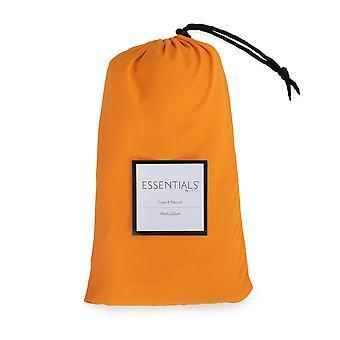 Loft 25 Essentials Sleeping Bag Liner | Camping Travel Sheet | Pillow Pocket | Hotel Business Holiday Use | Microfibre | Reusable and Lightweight (Orange)