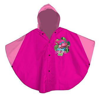 Trolls kids raincoat jacket hoodie pink one size