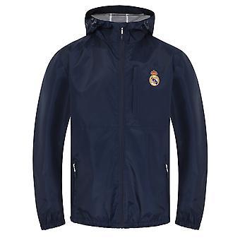 Real Madrid Official Football Gift Mens Shower Jacket Windbreaker