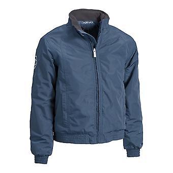 Ariat Childrens vandtæt stabil jakke-navy blå