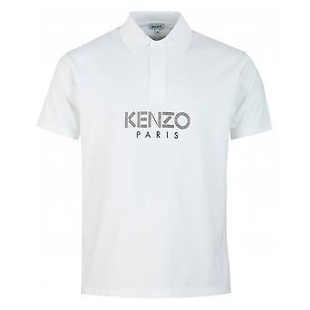 Kenzo Paris Centre Logo White Polo Shirt