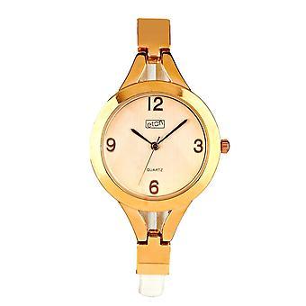 Eton Fashion Watch, Slim White PU Strap, Rose Gold Finish 3195L-WT
