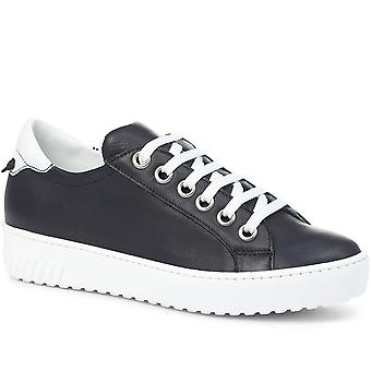 Jones Bootmaker Womens Aliza Leather Lace-Up Trainer
