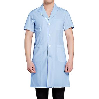 Allthemen Men & Apos&s Medical Coat Blue Mâneci scurte Medicale Sănătate Salopete