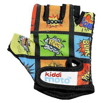 Kiddimoto Cycling Gloves Comic