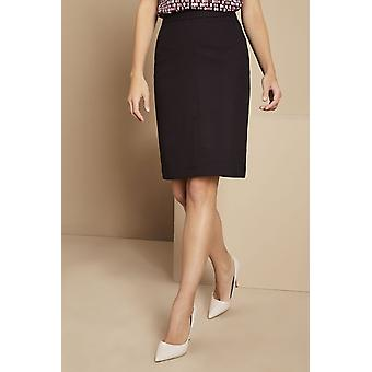 SIMON JERSEY Contemporary Pleat Back Skirt, Plum