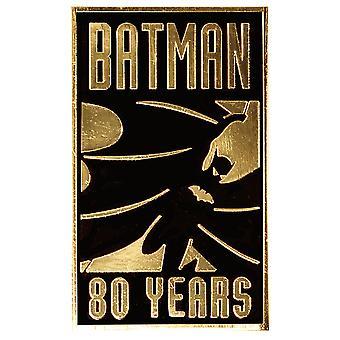 Batman 80th Anniversary Gold Pin