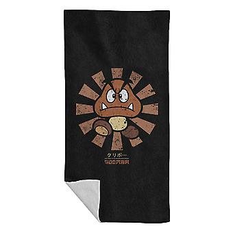 Goomba Retro Japanese Super Mario Beach Towel