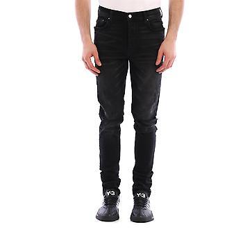 Amiri Y0m01393sdabl Men's Black Cotton Jeans