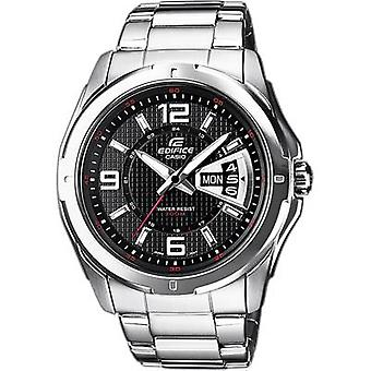 Quartz Wristwatch EF-129D-1AVEF (L x W x H) 49 x 44.8 x 10.4 mm Silver Enclosure material=Stainless steel Material (watch strap)=Stainless steel Casio