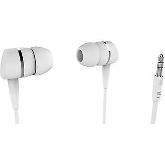 Vivanco SOLIDSOUND WHITE Fones de ouvido In-Ear In-ear