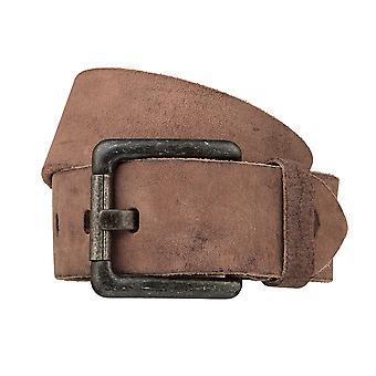 TOM TAILOR belt leather belts men's belts of taupe 3223