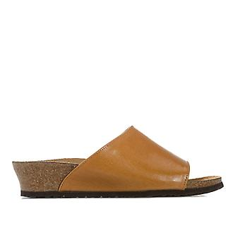 Women's Papillio Amber Wedge Sandals Narrow Width in Brown