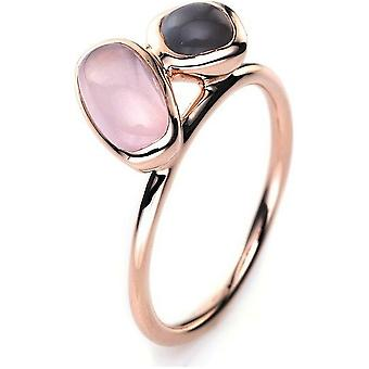 Gemstone ring with rose quartz 750/red gold - 2.16 ct.