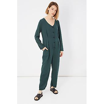 Please Verde Green Long Sleeve Jumpsuit