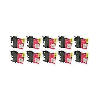 RudyTwos 10x Replacement for Brother LC-985M Ink Unit Magenta Compatible with MFC-J220, J265W, J410, DCP-J125, J315W, J415W, J515W