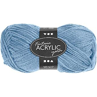 50g 3-Ply Light Blue Acrylic Yarn for Kids Knitting and Sewing Crafts
