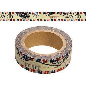 15m Airmail selbstklebende Washi Tape 15mm breit für Karte machen Scrapbooking