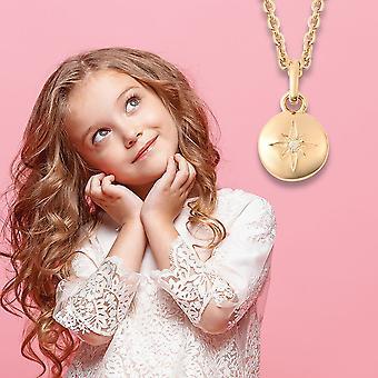 "RACHEL GALLEY Star White Diamond Chain Hanger Ketting Sterling Silver Size 16"""