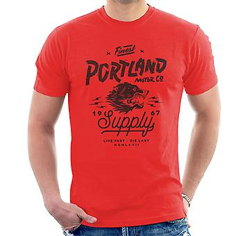 Opdel & Conquer Portland Motor Co mænd ' s T-shirt