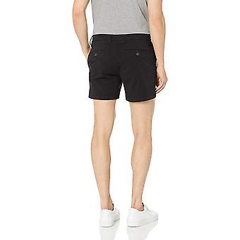 Goodthreads Men's 5& Inseam Flat-Front Stretch Chino Shorts, -svart, 34