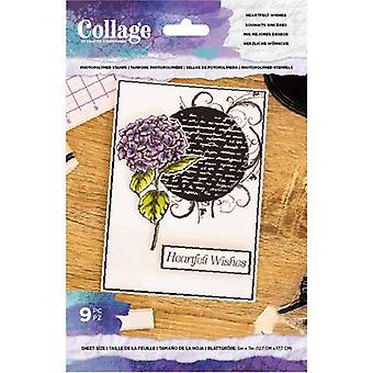 Crafter's Begleiter herzlichwünsche klare Briefmarken