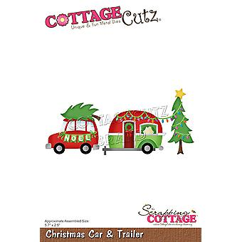 Scrapping Cottage Christmas Car & Trailer