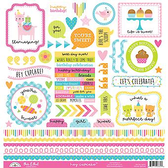Doodlebug Design Hey Cupcake This & That Stickers