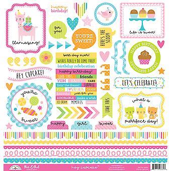 Doodlebug Design Hey Cupcake Questo & Che gli adesivi